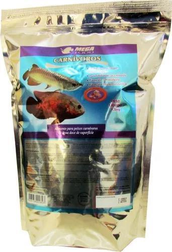 Ração peixes carnivoros superficie * 1,5kg *c/alho mega