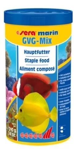Ração sera gvg-mix marin 210g para peixes de aquário