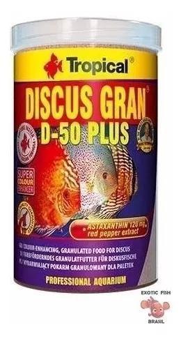Ração tropical discus gran d-50 plus 440g ideal acara