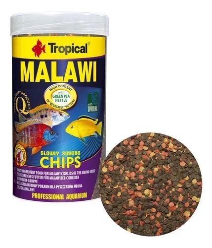 Ração tropical malawi chips 130g para ciclídeos