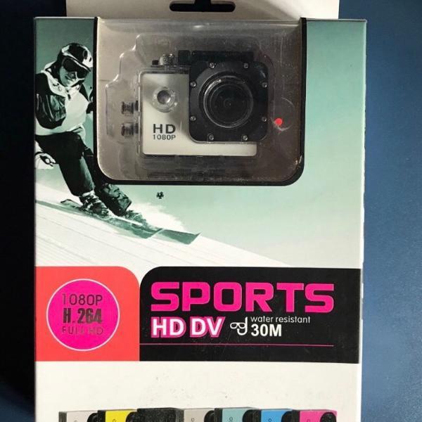 Câmera action cam sport h264 full hd 1080p 12mp a prova