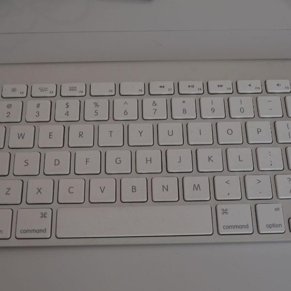 Teclado apple magic keyboard e apple magic mouse branco