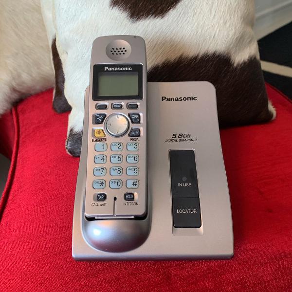 Telefone sem fio panasonic prata
