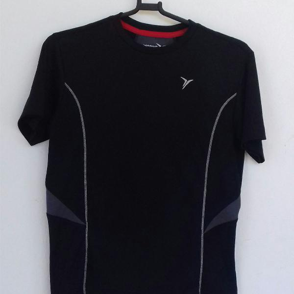 Blusa esporte manga curta preta m