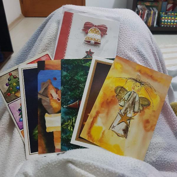 Cartão de natal -pinturas