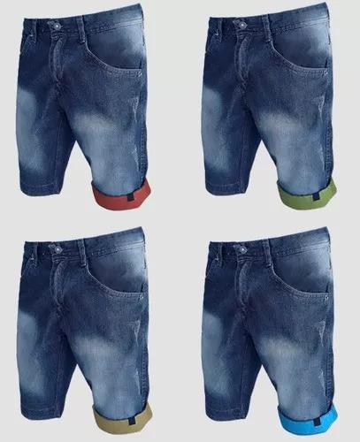 Kit 3 bermuda jeans menino infantil juvenil para sua crianç