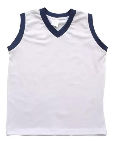 Kit 5 camiseta regata * uniforme escolar 10/12/14