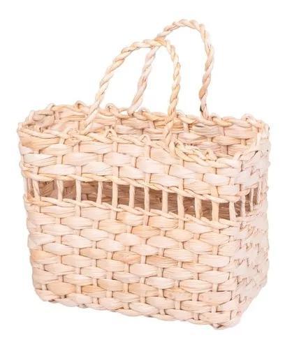 Kit com 12 - bolsa de palha bolsinha infantil decoração