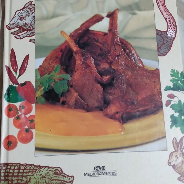 Livro o sabor das carnes exóticas