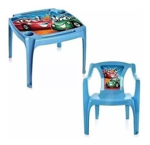 Mesa mesinha infantil 1 cadeiras com brinde carros escolar