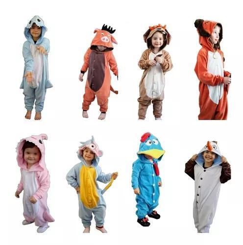 Pijama macacão kigurumi roupa infantil adulto conjunto kit