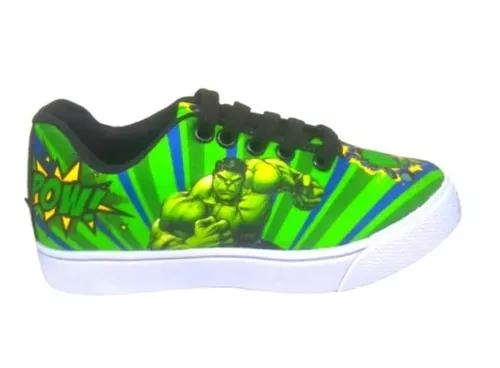 Tênis incrível hulk infantil tipo sapatilha sapato