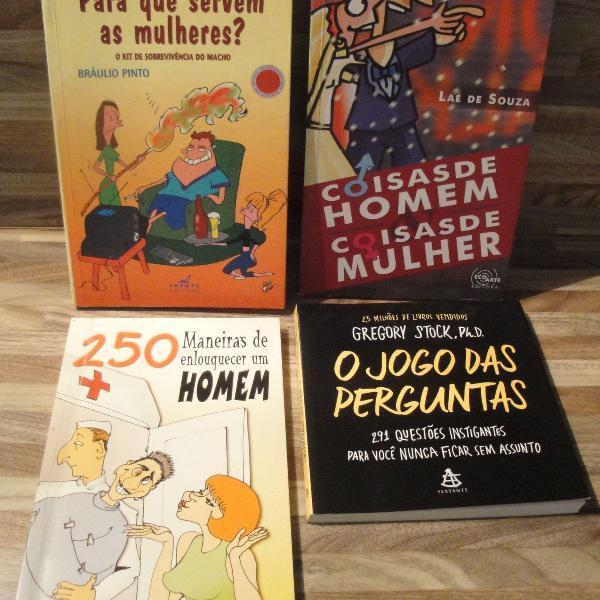 Kit 4 livros de humor