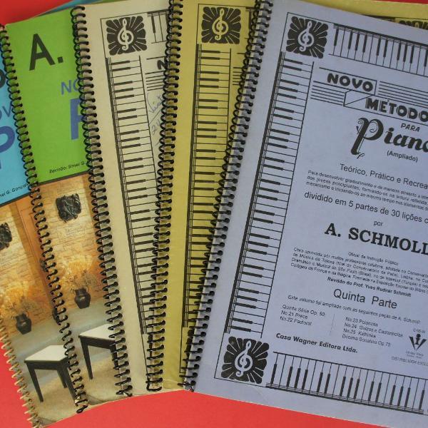 Kit completo novo método para piano schmoll teoria e