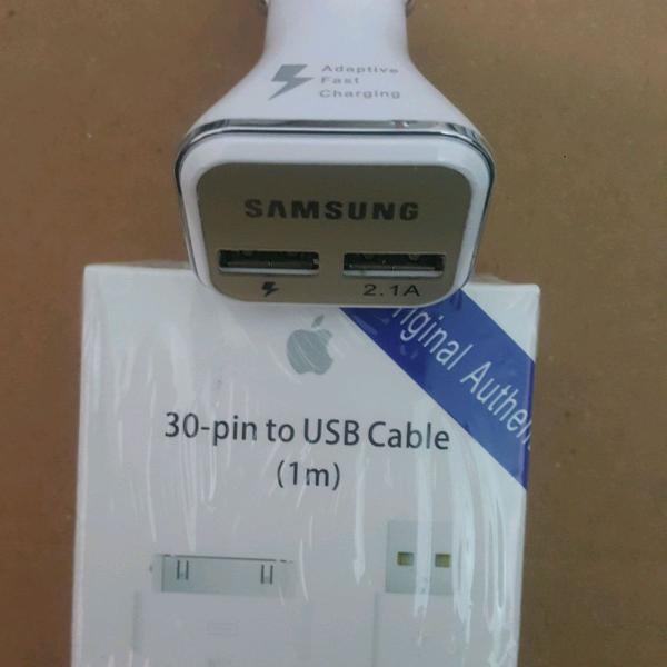 Cabo de dados iphone 4/4s +adaptador veicular