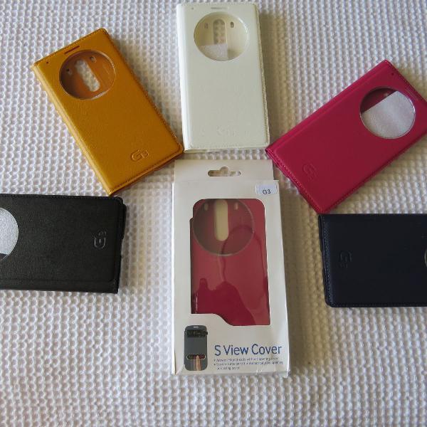 Capa case original lg g3 d855 d850 smart view quick circle