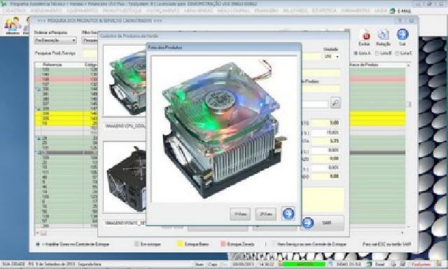 Programa assistência técnica e vendas v5 plus