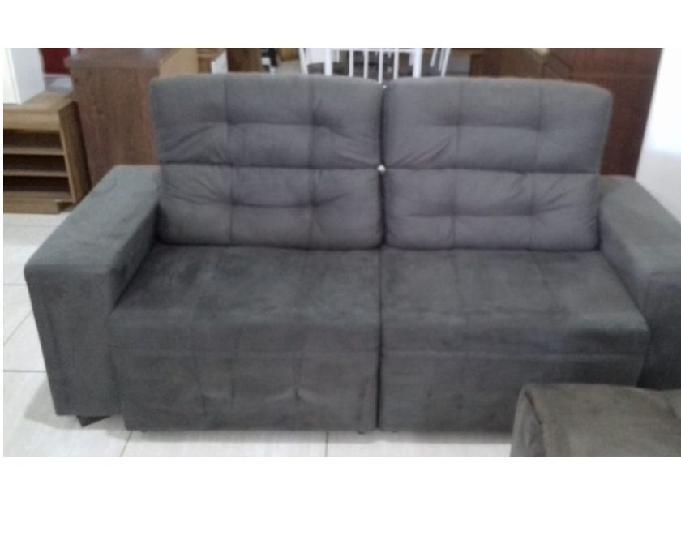 Sofá de 2 metros, retrátil e reclinável.