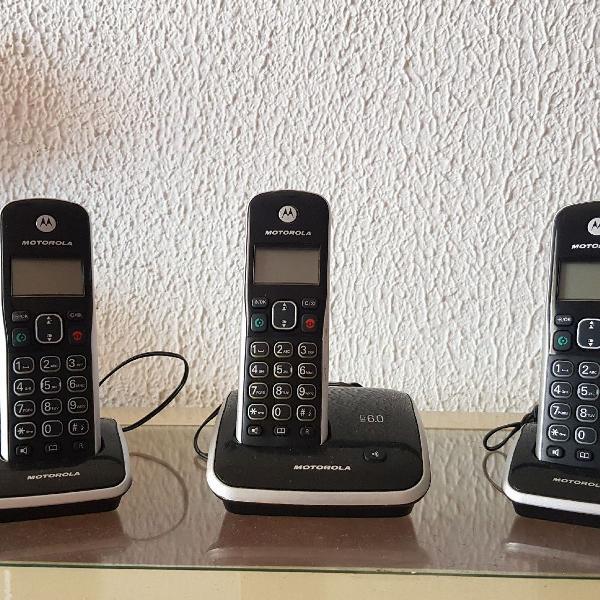 Telefone digital sem fio com ramais