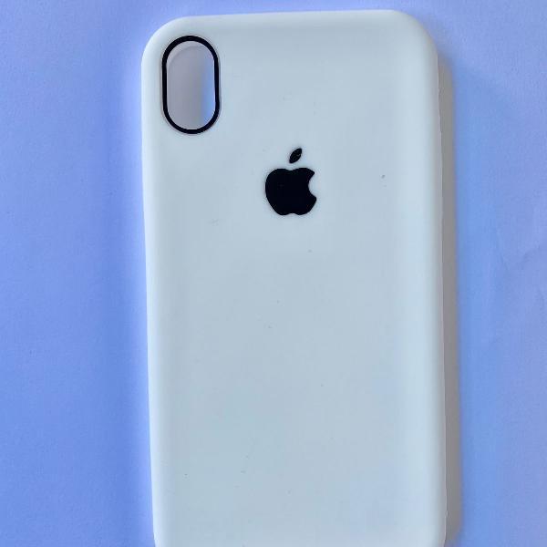 Capa silicone flexível para iphone xr branca