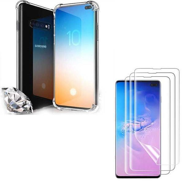 Kit capa proteção s10 + pelicula nano gel