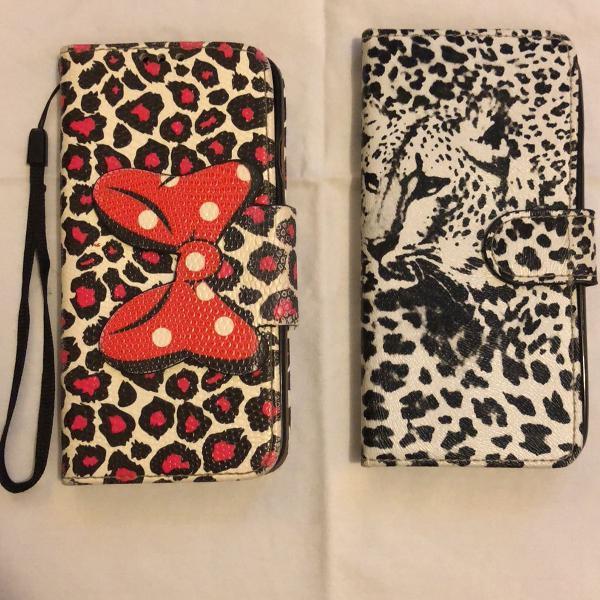 Kit cases porta celular, cartões, para iphone 6