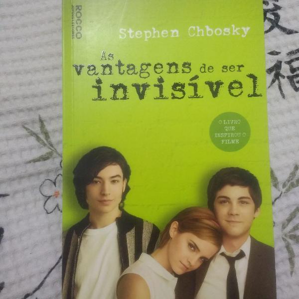 Livro as vantagens de ser invisível, de stephen chbosky