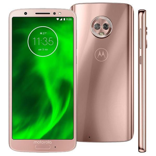Motorola moto g6 - ouro rosê - 64 gb - 4 gb ram