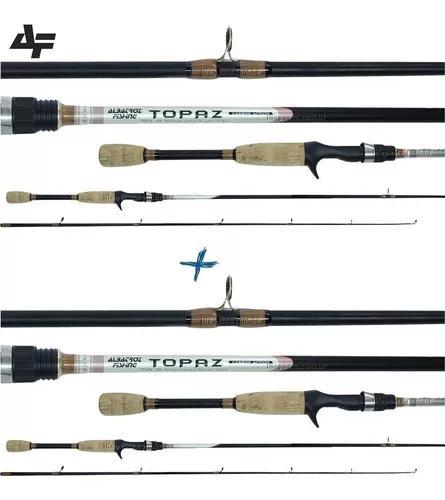 2 varas para carretilha albatroz topaz (1,80m) 6-12lb 2p nfe