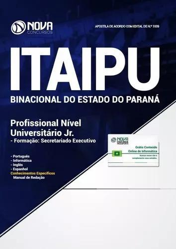 Apostila itaipu 2018 - profissional nível universitário
