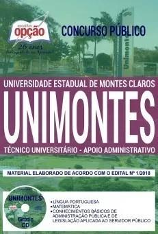 Apostila unimontes mg 2019 técnico universitário - apoio