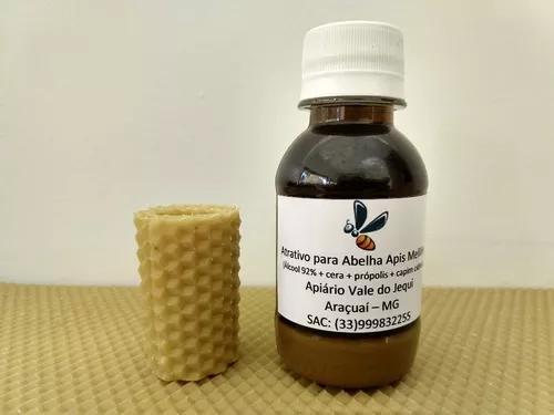 Atrativo feromônio para abelha apis + cera de brinde