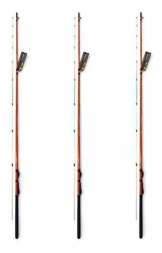 Kit 3 varas pesca ultra light 2,10 mts tucumã xingu