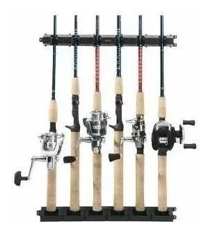 Suporte expositor de parede para 16 varas pesca stick rack
