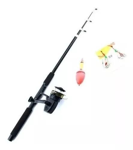 Vara de pesca 2,10 molinete anzol boia e linha completa