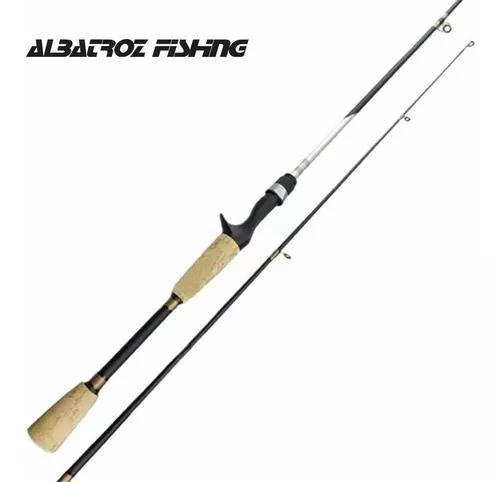 Vara pesca carbono topaz albatroz carretilha 6-12lb 1,68 mt