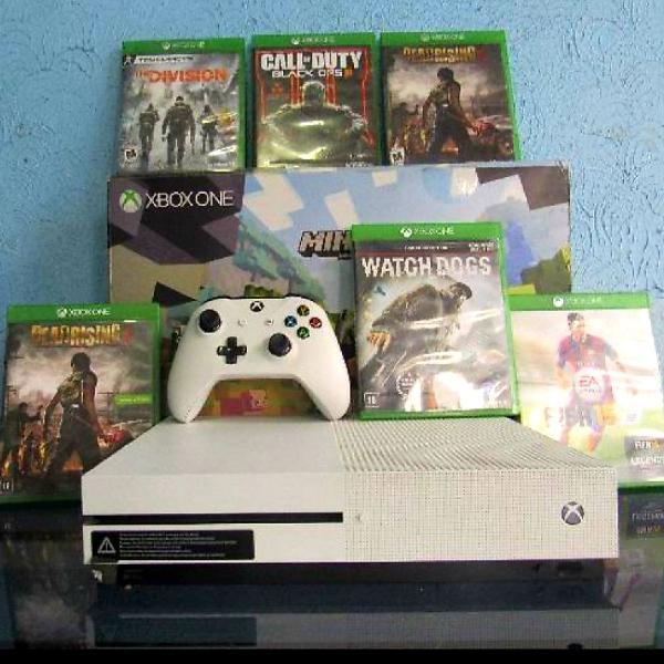 Xbox s - 500 gb - 2 controles - 6 jogos