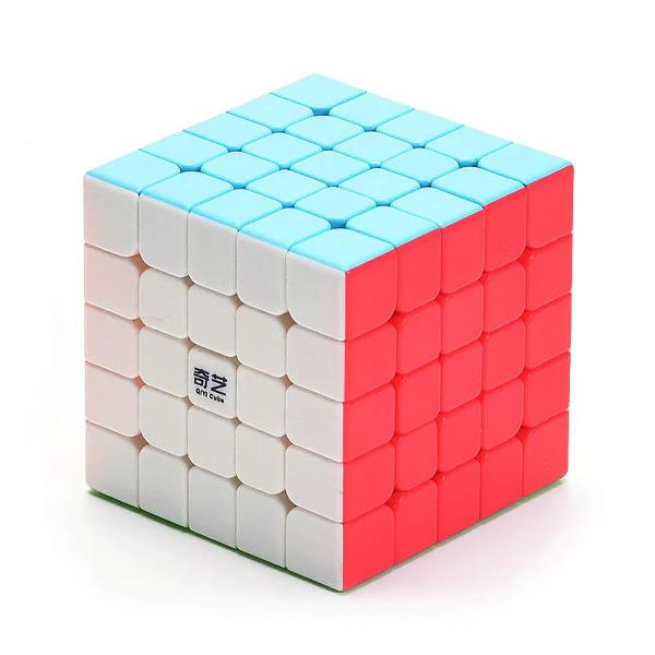 Cubo mágico qiyi qidi s 5x5x5 sem adesivo profissional