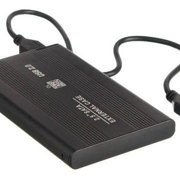 Hd externo 500gb + cabo usb + case