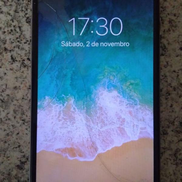 Iphone 6 16gb tela trincada e biometria n funciona
