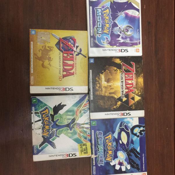 Kit jogos de nintendo 3ds