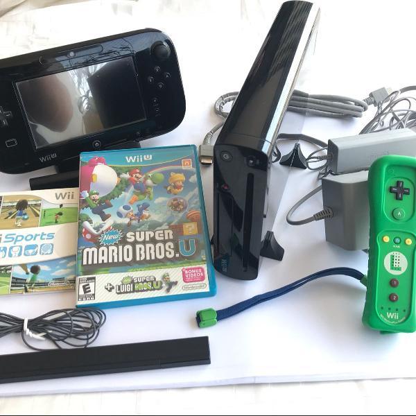 Nintendo wii u em estado de novo, pouquíssimo uso