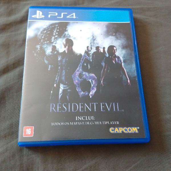 Resident evil 6 deluxe ps4 jogo multiplayer