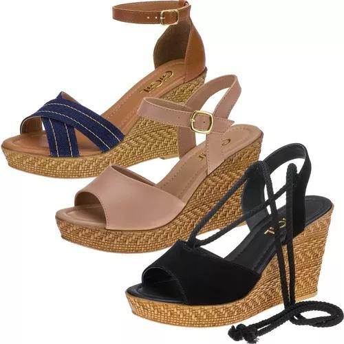 3 pares sandalia f