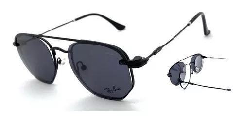 Armação oculos grau solar clip on r3045 original hexagonal