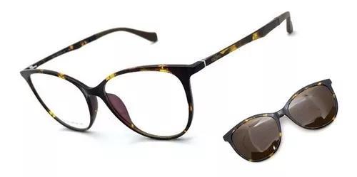 Armação oculos grau solar original osônio clip on