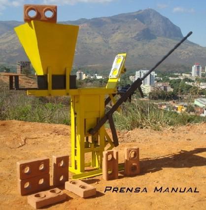 Maquina prensa tijolo ecologico mecamig