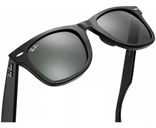 Oculos ray ban wayfarer rb2140 preto/verde envio