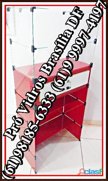 Caixa balcão de vidro,temperado,(61)9 8185 6333,temos todos os modelos e tamanhos,entrega grátis,df