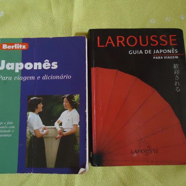 kit de 2 livros guia de japonês para viagem usado